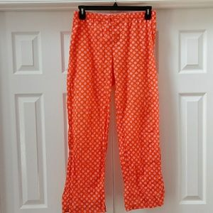 "PINK Victoria""s Secret dog orange pink pj pants"